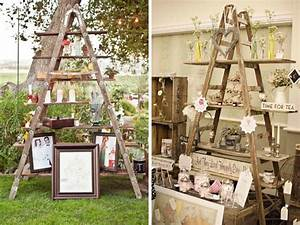 wooden ladders inspiration quirky parties With idee deco exterieur jardin 5 idee deco chambre bebe vintage