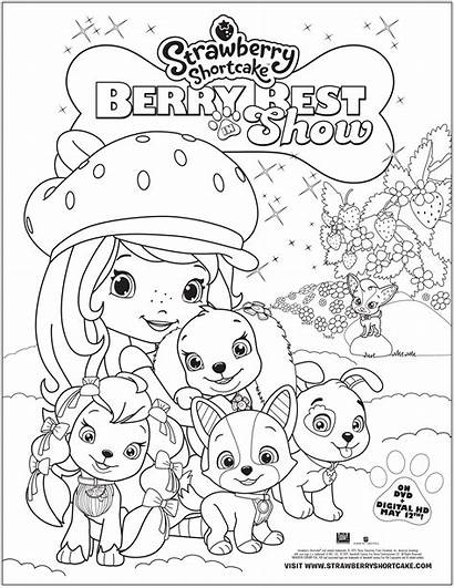 Strawberry Shortcake Coloring Berry Dvd Printable Giveaway