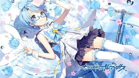anime blue hair pretty wallpaper anime
