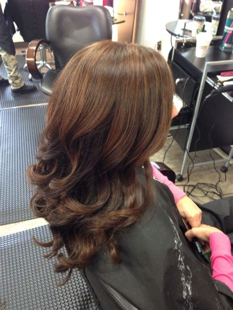 soft caramel balayage highlights  rich chocolate