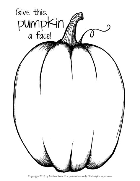 pumpkin pattern coloring page printable  large