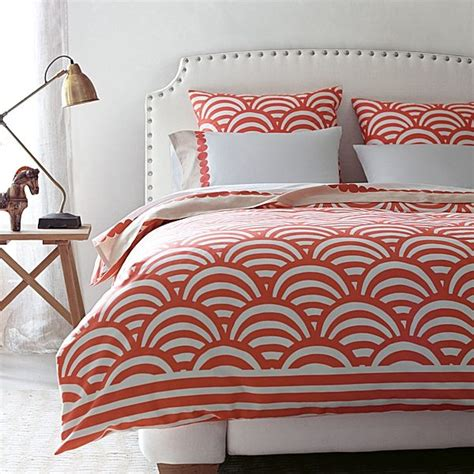 Coral Colored Bedding by A Coral Scale Bedding Pattern Decoist