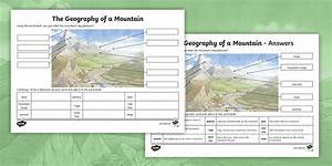 Diagram Of A Mountain Ks2 Labelling Activity  Teacher Made
