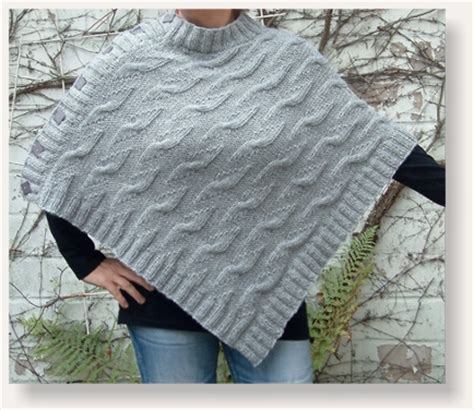 poncho stricken aus einem stück allerlei strickerei designblog