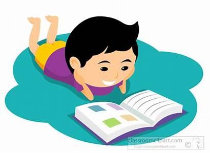 Reading Clipart Child Books Floor Animated Clip