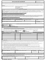 dd form 1494 download fillable pdf application for