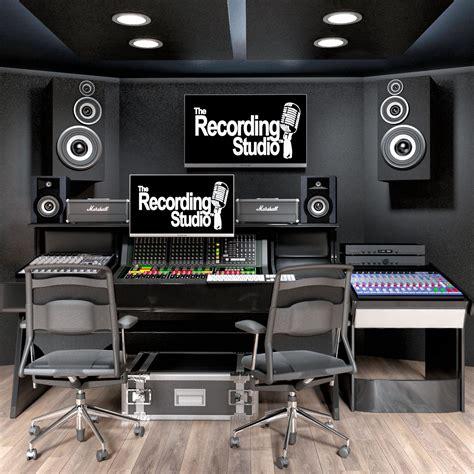 Recording Studio 3D model MAX OBJ FBX