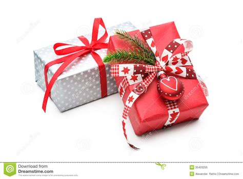 christmas gift stock image image of isolated bright