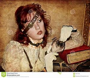 Steampunk Victorian Girl Stock Image Image Of Victorian