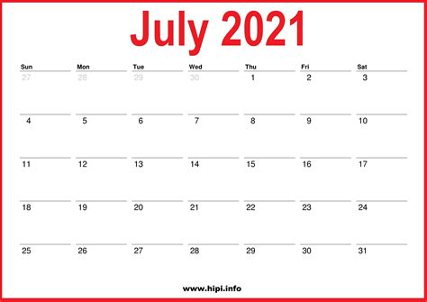 monthly calendars  july august september