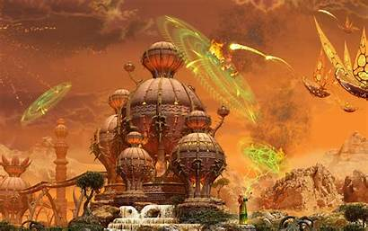 Town Fantasy Fairytale Wallpapers Attack Air 3d