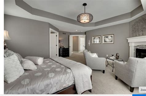 Tray Ceilings Paint Ideas by Darker Gray Wall Color Bedroom Ideas