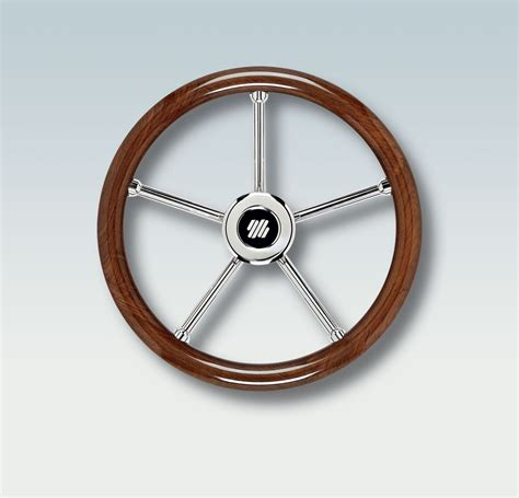 Boat Driving Wheel by Wood Grip Steering Wheels Pleaure Boat Speed Knob Boating