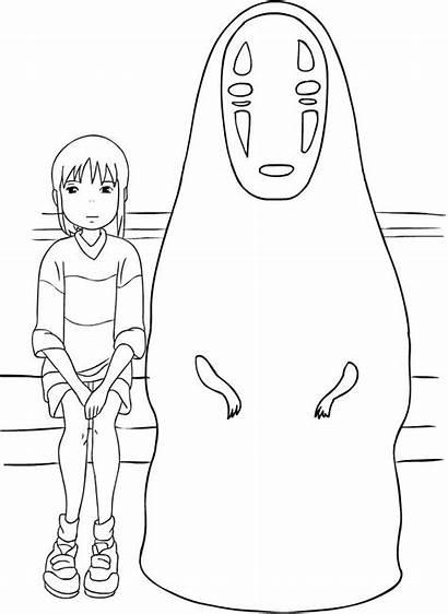 Coloring Ghibli Studio Chihiro Spirited Away Face