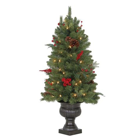 fake tree with lights martha stewart living 3 ft winslow fir potted artificial