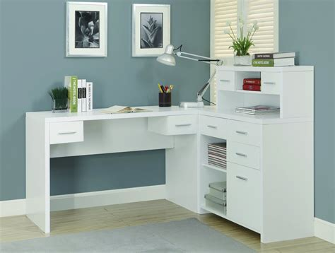 white corner desk with storage sleek white finished l shaped corner office desk with