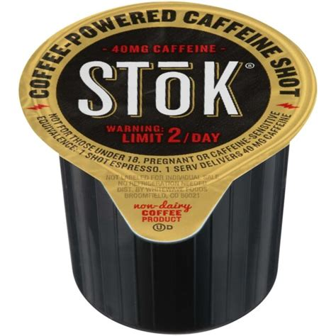 100 shots of stok espresso coffee shots caffeinated cold brew in dispenser box. SToK Caffeinated Black Coffee Shots, 264 Single-Serving Shots, Single-Serve Shot for sale online