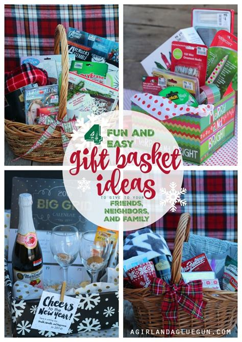 christmas gifts for large families 4 and easy gift basket ideas for a and a glue gun
