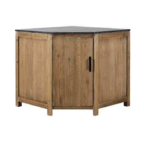 meuble bois cuisine meuble bas d 39 angle de cuisine ouverture gauche en bois