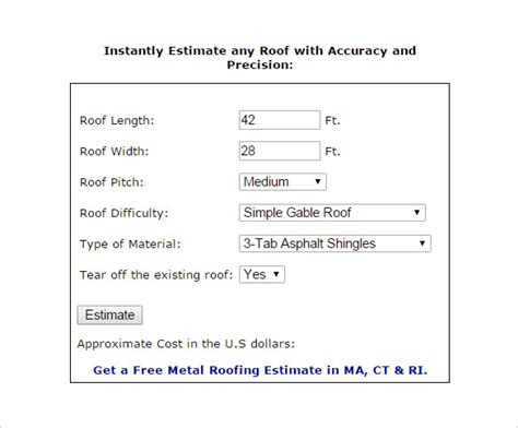 12+ Roofing Estimate Templates