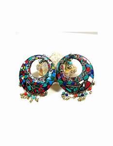 Grosse Boucle D Oreille Fantaisie : grosse boucle d 39 oreille tibetaine bijoux ethniques en resine color e bo177 ~ Melissatoandfro.com Idées de Décoration