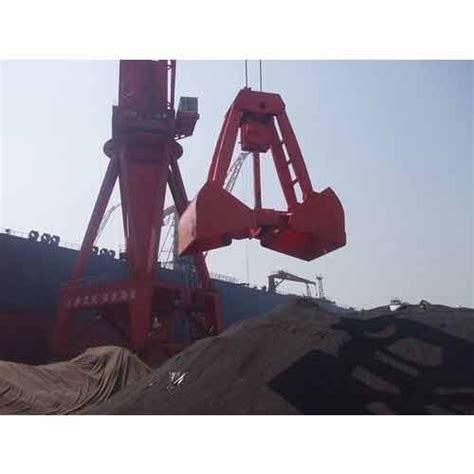 single rope touch open grab  rs piece grab bucket crane id