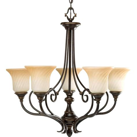 Chandeliers Lighting Collections by Progress Lighting Kensington Collection 5 Light Forged