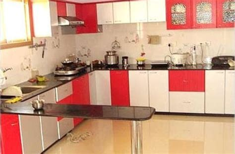 red  white kitchen cabinets interior design