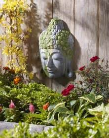 moss covered buddha garden decoration idea project