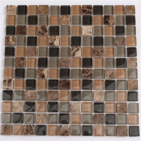 Stone Glass Mosaic Tile Sheets Kitchen Backsplash Tiles