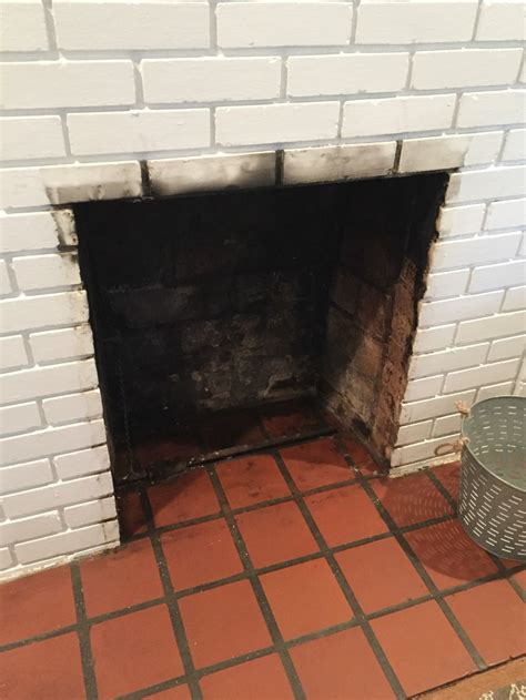 how to clean bricks around fireplace how to clean a fireplace firebox friday five the diy