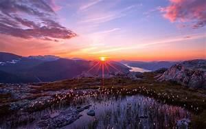 Landscape Sunset Mountain Free Wallpaper | I HD Images