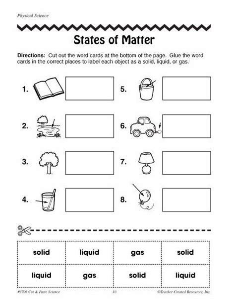 identifying states of gas matter worksheet free printable phases of matter worksheets click here