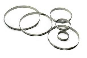 cercle cuisine inox cercle à tarte inox h 2 cm bords roulés cercles à tartes