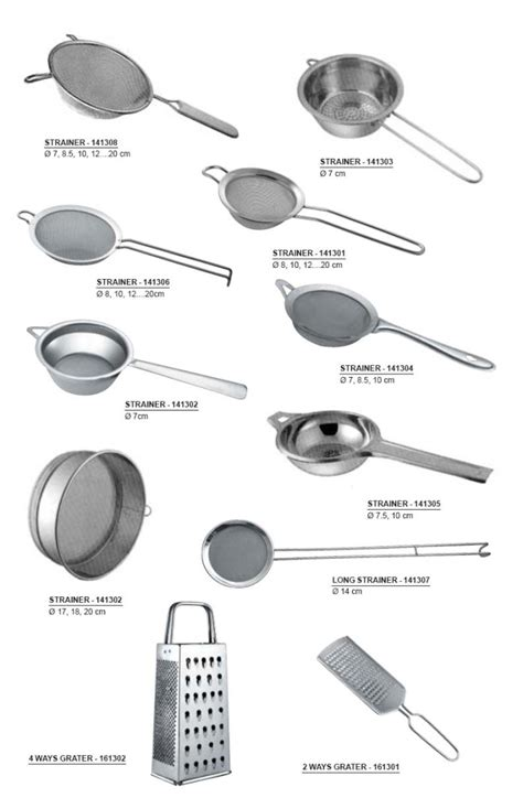 Kitchen Accessories With Names by Stainless Steel Utility Items