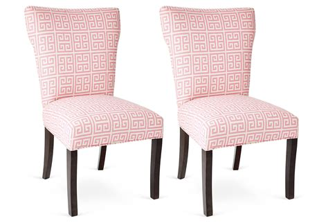 pink chairs pair dining chair from one of