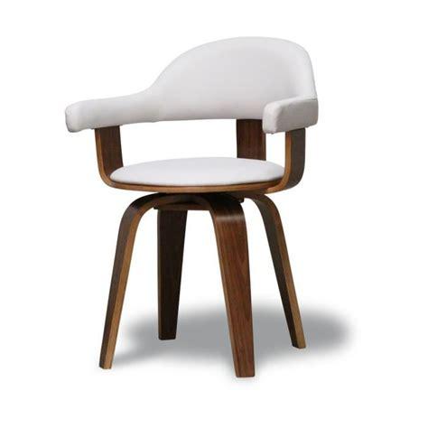 chaise bois et blanc chaise design pu blanc et bois massif walnut achat