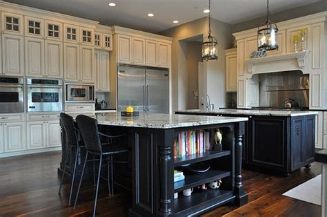 black kitchen islands white kitchen black island kitchentoday
