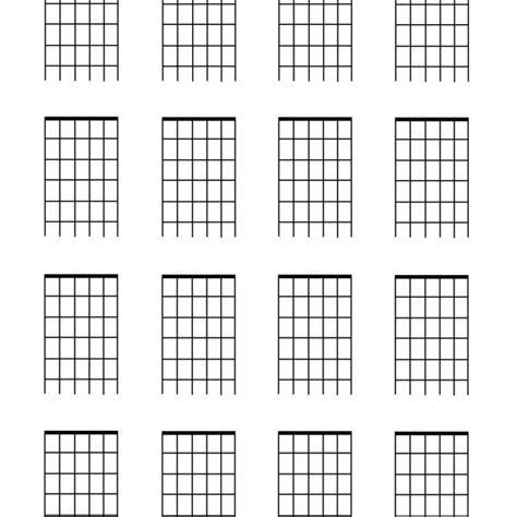 chord template pdf guitar templates pdf