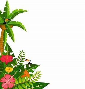 Tropical Border Clipart