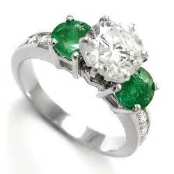 emerald wedding ring anzor jewelry 14k white gold emerald engagement ring special offer enjoy 5