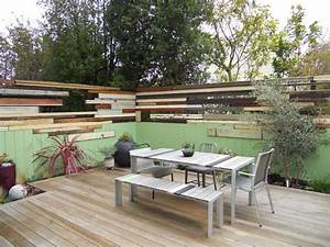 contemporary patio With superb amenagement terrasse et jardin 15 deco maison original