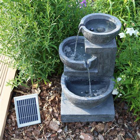 garten springbrunnen solar solar springbrunnen nsp12 mit akku led beleuchtung f 252 r