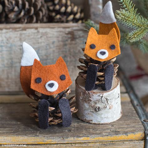 The Chew Templates Pine Cones Animals by Felt Pinecone Fox Lia Griffith