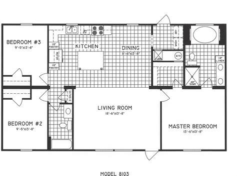 three bedroom floor plans 3 bedroom floor plan c 8103 hawks homes manufactured