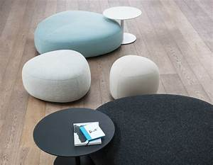 Upholstered fabric pouf kipu by lapalma design torbjorn for Pouf fauteuil