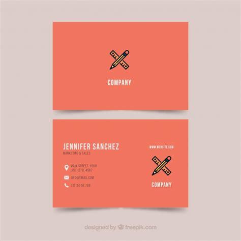 business card template illustrator vector