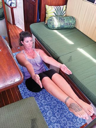Boat Pose With A Block by On Yachts Blue Water Sailing