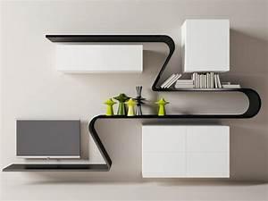 étagères Murales Design : etag re murale design en 33 mod les surprenants ~ Teatrodelosmanantiales.com Idées de Décoration