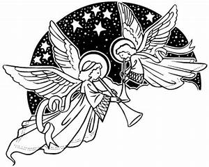 Singing christmas angels clipart kid - ClipartBarn